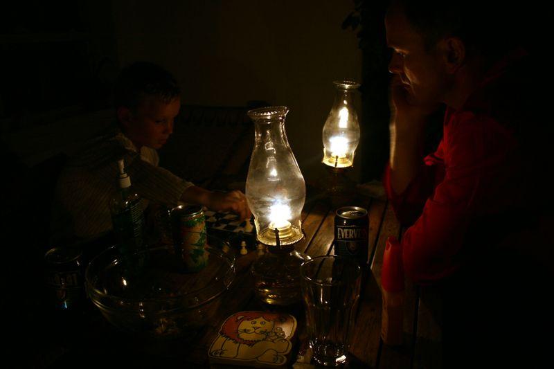 Baltasar og Arni spiller skak