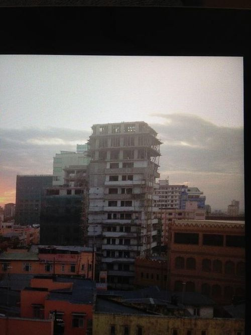 Recent photo of building before collapse. Photo by Khuzeimaz.